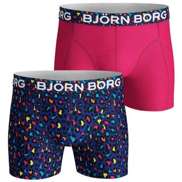 Bjorn Borg Mens 2019 Energy Leo /& Tiger 2 Pack Microfiber Cotton Boxers