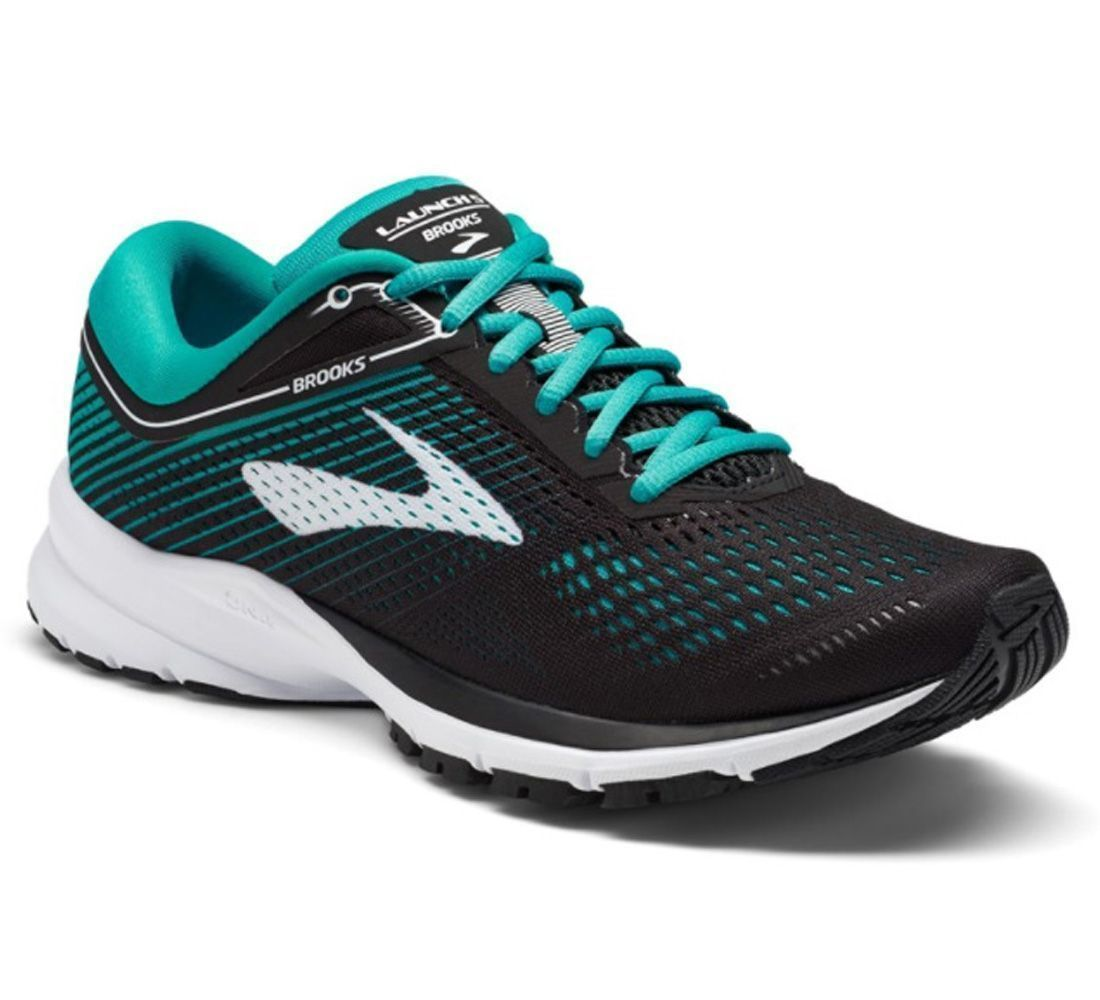 huge selection of 6d4c0 02e5f Brooks Shoes Launch 5 black/teal/white women's